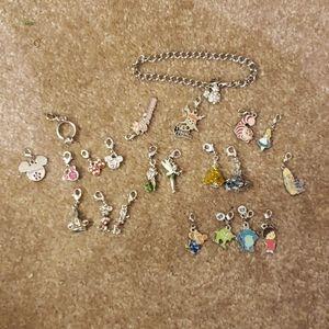 Disney charm bracelet +21 Disney character charms